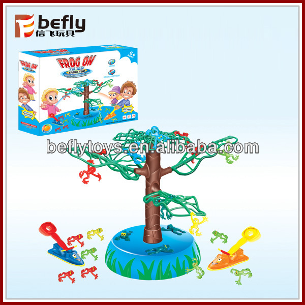 Frog on the tree table top kids electronic educational toys