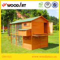 Large wooden chicken layer coop for poultry farm