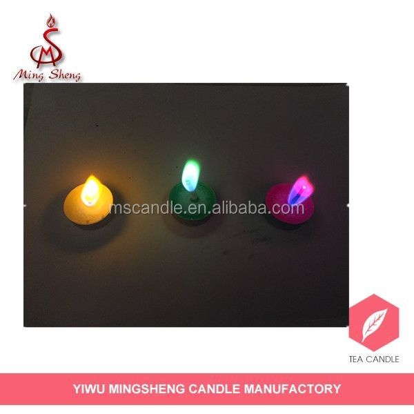 best price multi-color flame tea candles for party