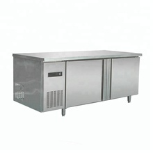 stainless steel Kitchen Tableware 2 Compartment refrigerator undercounter