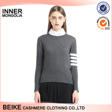 Hot selling women knitted 12gg unique used real cashmere sweater