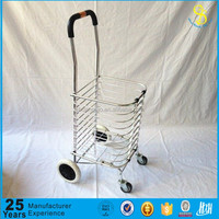 Guangzhou factory Shopping trolley cart/collapsible foldable wheeled trolley shopping cart(Hot sale)