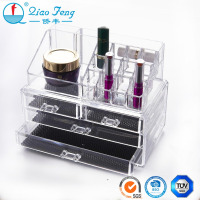 High quality exquisite acrylic makeup organizer with drawer