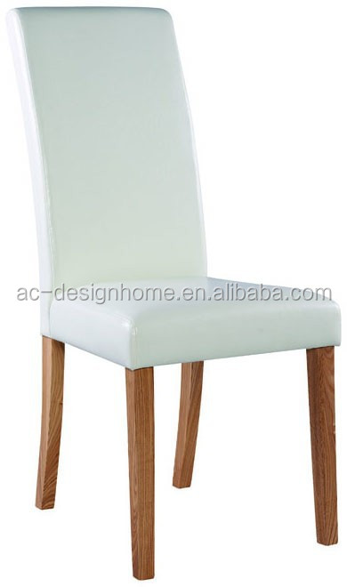 PU LEATHER/OAK WOOD DINNING CHAIR