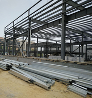 High quality flat roof metal shed and fabricated steel prices competitive