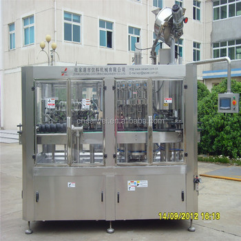 Washing filling and press capping machine for glass bottle