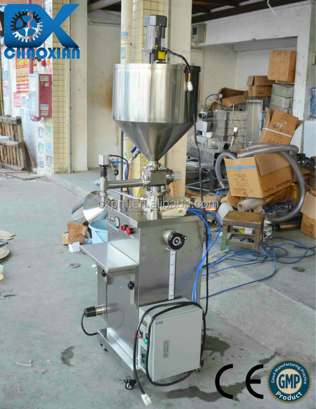 China ChaoXian semi-automatic vertical Barbecue sauce hot filling machine