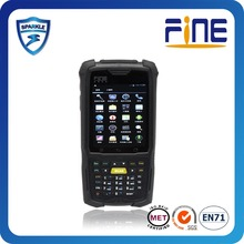Wince 6. OS biometric fingerprint reader based Mobile PDA with 3G/RFID/Barcode reader
