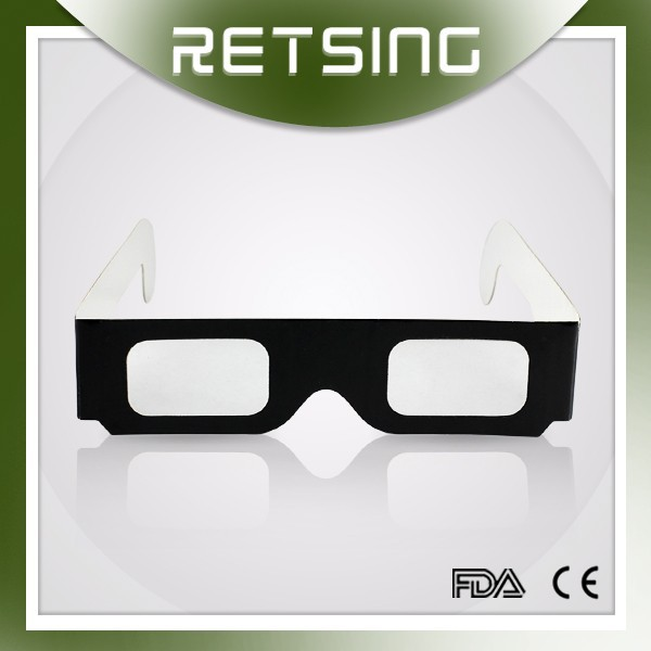 paper cardboard 3d firework glasses, cheap diffraction glasses