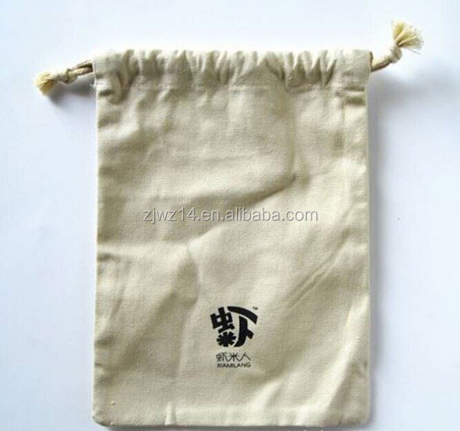 cotton canvas backpack bag/ drawstring backpack cotton bag wholesale/ hot sale high quality organic cotton bag