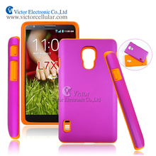 Alibaba China fancy cell phone accessories PC silicone hybrid case for LG Optimus L7X P714