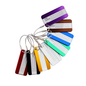 Promotional high quality metal Luggage Tag with metal ring