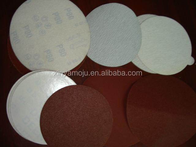 100mm no holes Self adhesive sticky sandpaper discs for furniture,many grits available