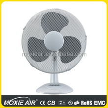 2017 China Manufacturer High Quality 16 inch desk fan with 3-Wing PP Blades
