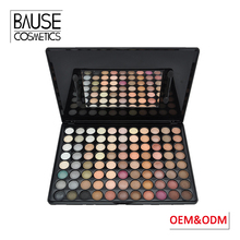 Private label odm 88 colors eye shadow palette logo accepted shimmer 88 color eyeshadow palette