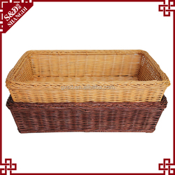 S&D color environmental protected rattan bread basket snacks dry fruit basket