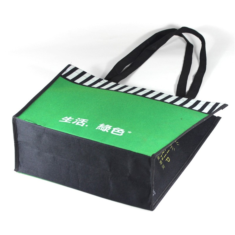 Wholesale customized eco-friendly rpet shoulder shopping bag for food