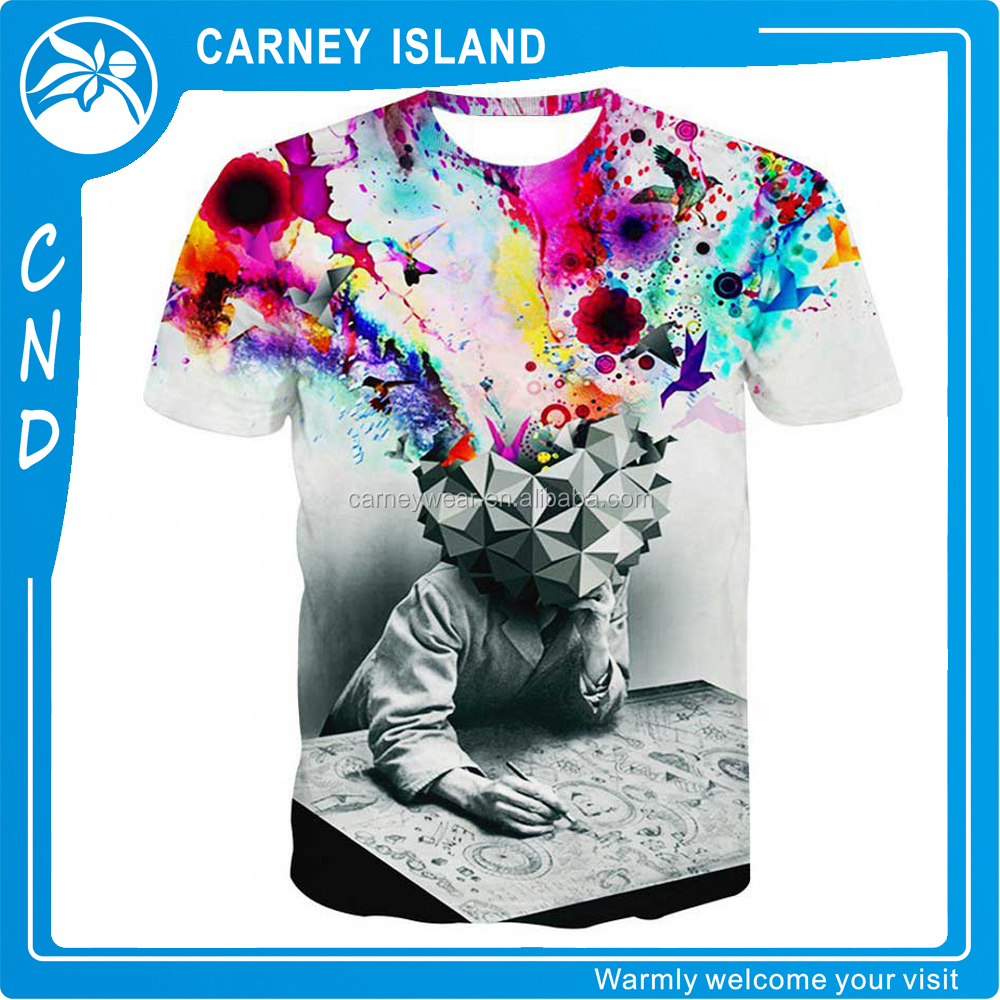 custom man 3d fancy design t-shirt printing wholesale new pattern t-shirts