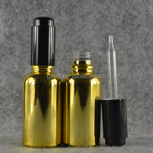 Low price wholesale buy new style 30ml gold electroplating E Juice Glass Bottle