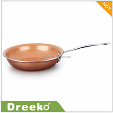 Ceramic Round Copper Fry Pan - 10 and 12 Inch 2 Pack