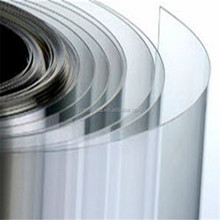 0.6mm color super clear transparent PVC flexible plastic rigid sheet in roll