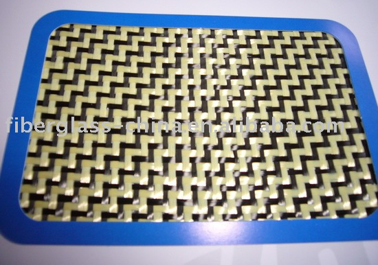 Blended Fabric compounded by carbon fiber and aramid fiber