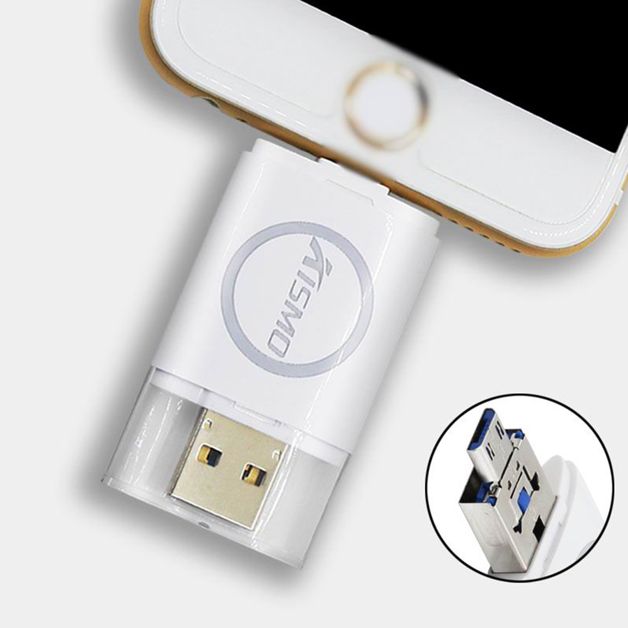 Fashional micro usb flash drives 128gb with full capacity, otg adapter for Samsung and iPhone fantasy usb flash memory drive