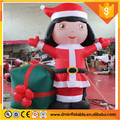 christmas Inflatable girl with gift for decoration