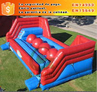interesante wipe out juego hinchable castillo inflable