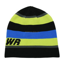 Skiing Hat Sports Promotion Acrylic Striped Knitted Beanie Hat