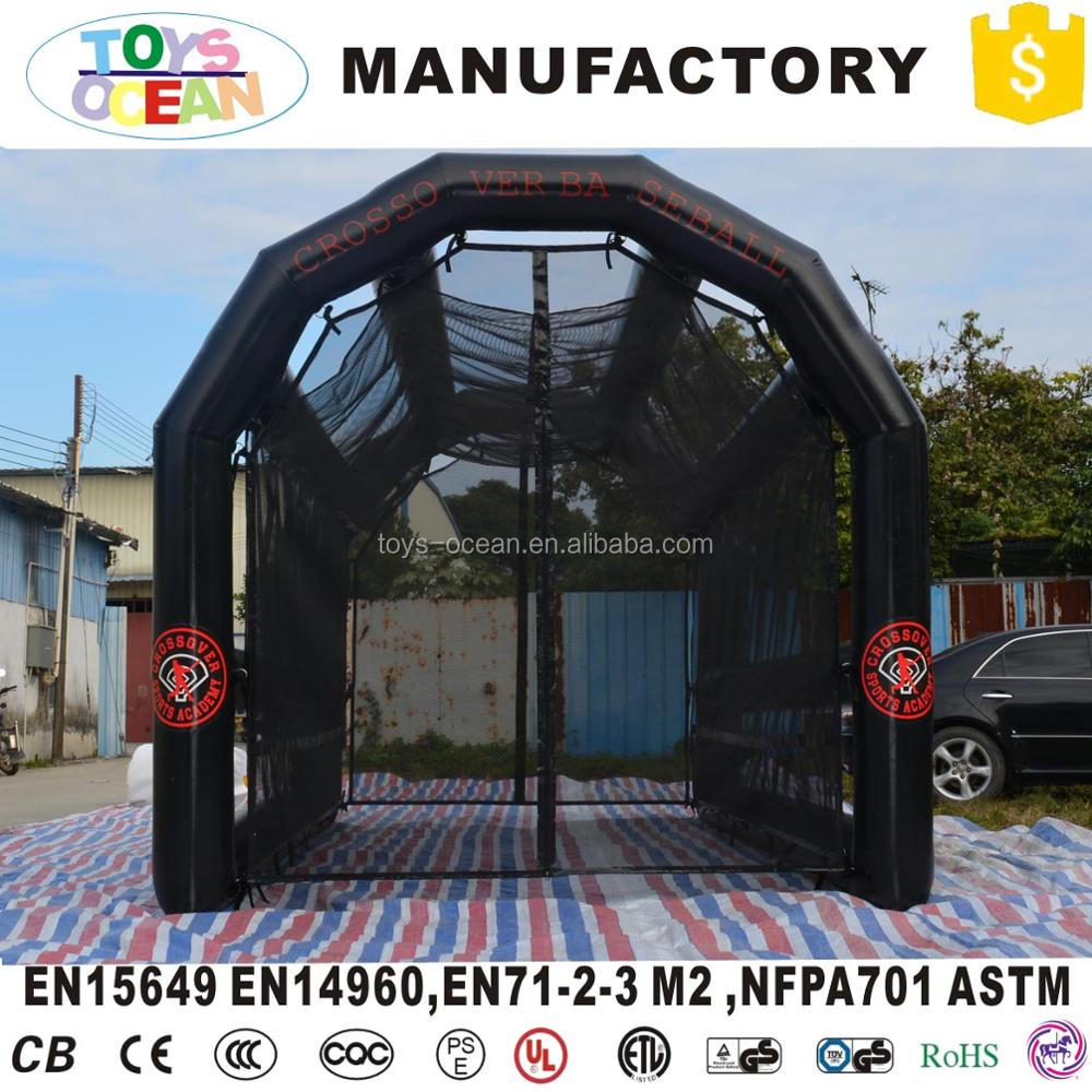 black inflatable baseball golf net sport court inflatable batting cage for sale