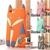 Factory Wholesale Novelty Lovely 3D Cute Silicone Cartoon Animal Fox Soft cover Case for iPhone 5 5S iphone5,50pcs/lot