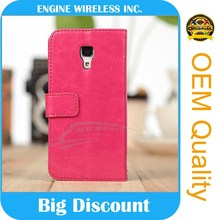 hot new products for 2015 leather flip case for sony xperia sola mt27i OEM