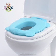 Plastic Square Baby Toilet Seats Cover For Kids Blue
