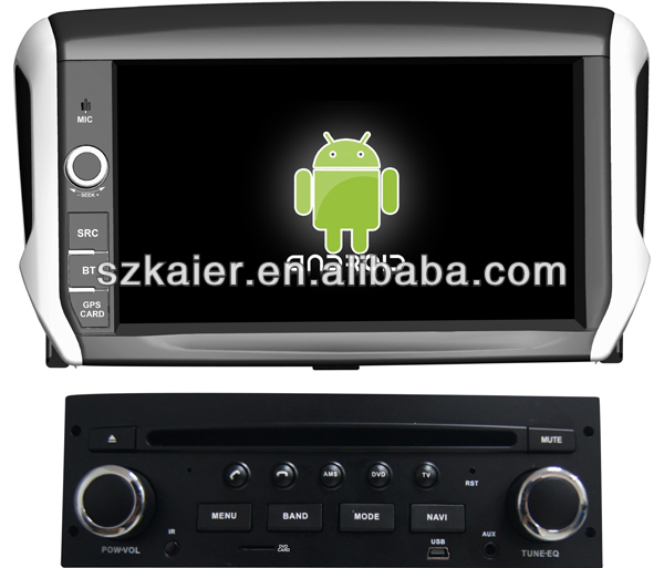 android sistemi i in ara multimedya peugeot 208 gps bluetooth tv 3g wifi ara video r n. Black Bedroom Furniture Sets. Home Design Ideas