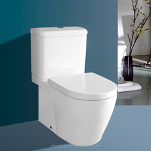 Separate washing down Ceramic Toilet bowl/Bathroom two piece WC toilet seat/cheap two piece wash down closestool-