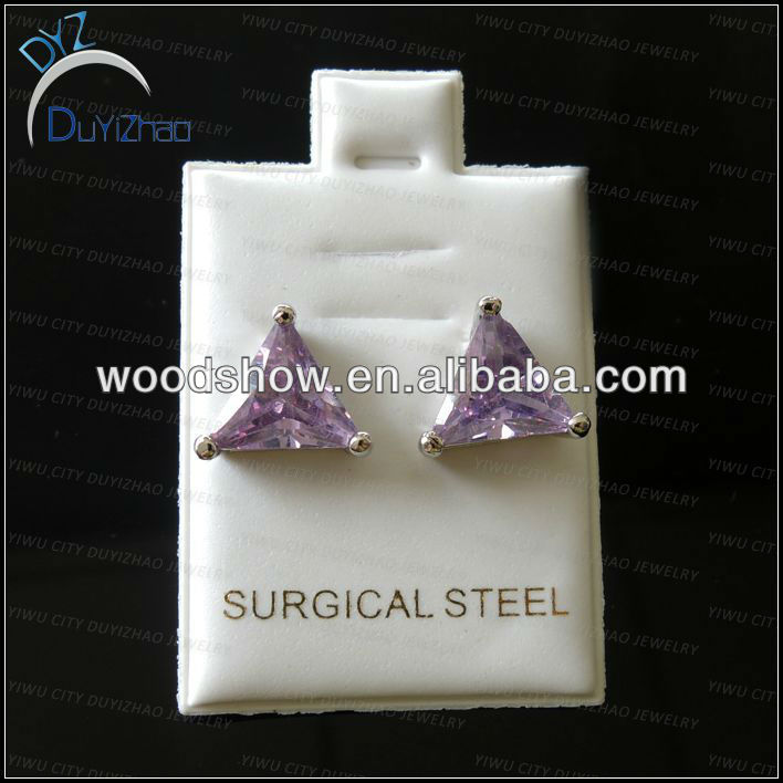 fashion cheap cz stud earrings 2013 fashion jewelry