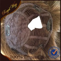 2016 Best Sellers Top Quality 100% Virgin European hair Jewish wig Topper Kippah Fall