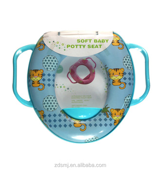 colorful base pvc printing baby/kids/child toilet seat