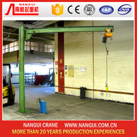 Famous Brand Nangui Hot Selling Mini Column Mounted Swing Jib Crane For Sale