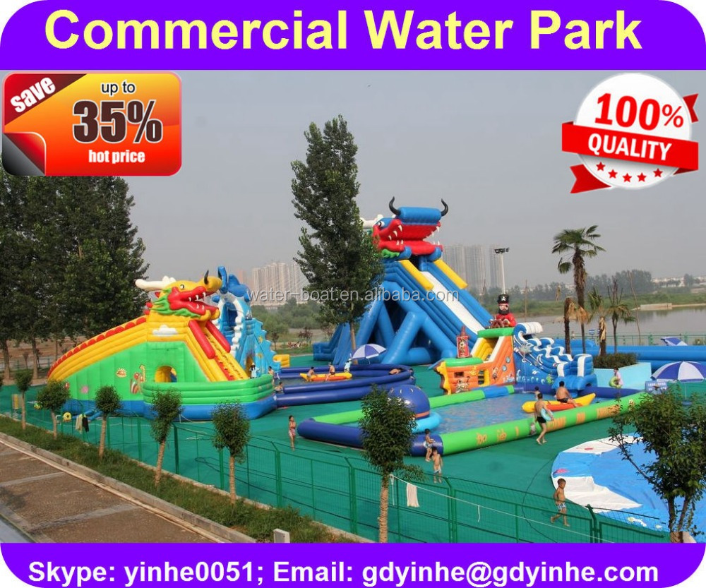2016 giant 100+people new design inflatable water park for adult