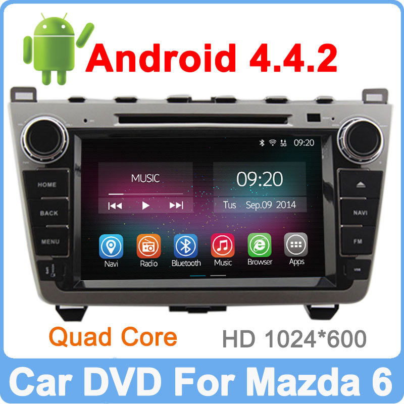 Ownice New Quad Core Android 4.4.2 mazda 6 dvd player gps Cortex A9 Support DVR OBD TPMS