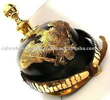 pickelhaube Helmets/ German Helmet / military Dragoon helmet with Round spike