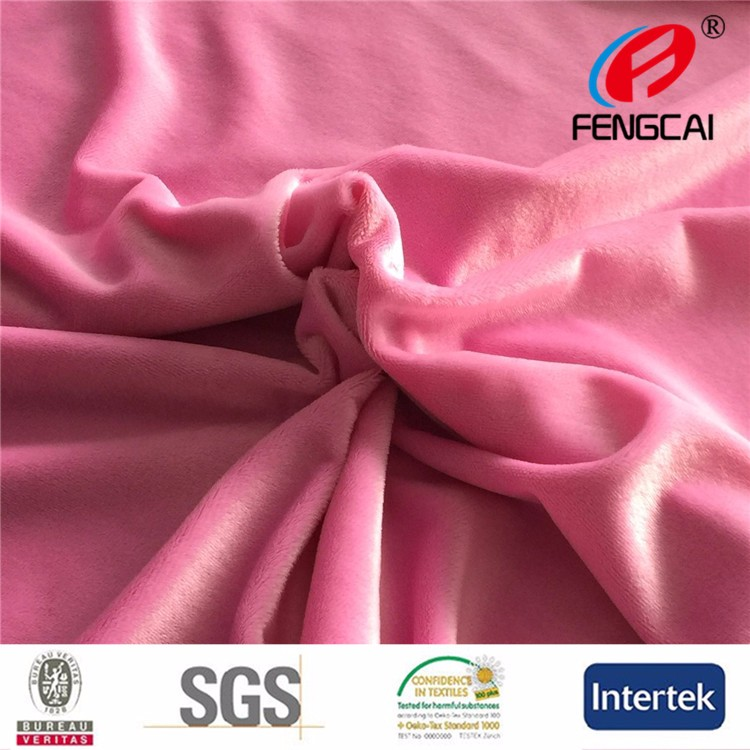 Super soft velboa knitted fabric for garment ,toy ,sleepwear
