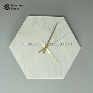 2018 Hot Sell White Carrara Marble Decorative Wall Clock