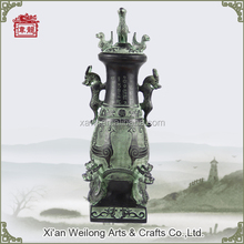 Famous Chinese bronze wine vessels wine pot bird sculpture replica HQY804