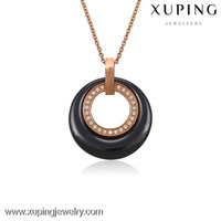 xuping Rose gold color gold jewellery fashion necklace 42892