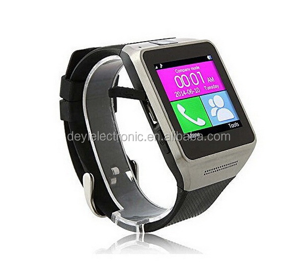 Easy to use new coming <strong>gsm</strong> for android smart watch GV08 with free cellphone holder