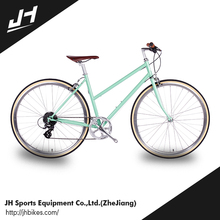 Well Sale Woman 700C 8 Speed Two Wheel Classic Iron City Bike