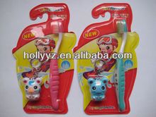 2013 high quality professional lovely design children finger toothbrush with a gift